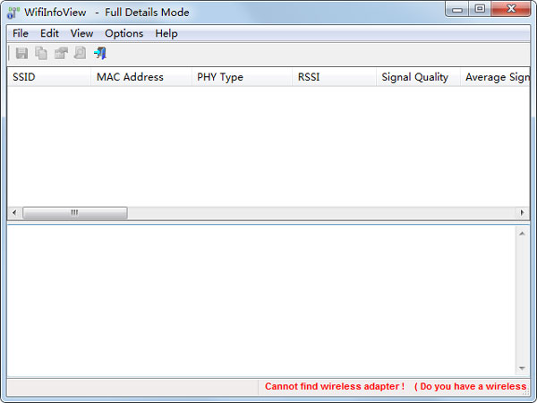 WifiInfoView(无线网络扫描软件) V2.05 绿色英文版