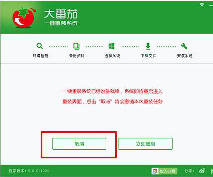 大番茄一键重装系统官方下载 大番茄一键装机4