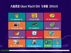 大地系统Ghost Win10 64位 装机版 2016.01