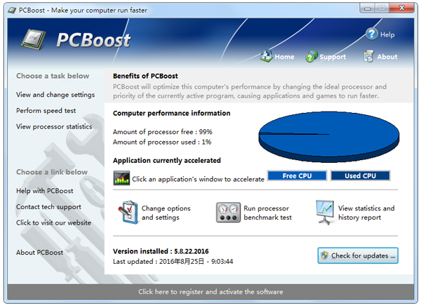 PGWARE PCBoost(电脑加速) V5.8.22.2016 英文绿色版