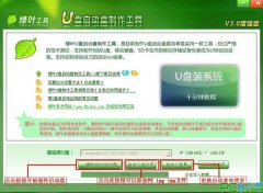 绿叶u盘启动盘制作工具V5.0官方绿色版