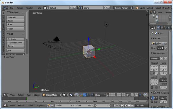 Blender x32(3D绘图软件) V2.77 英文版