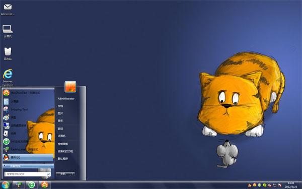 猫捉老鼠Win8桌面主题