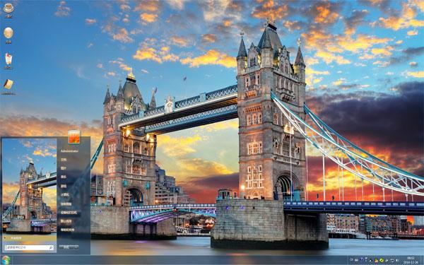 雄伟壮丽伦敦塔桥W8主题