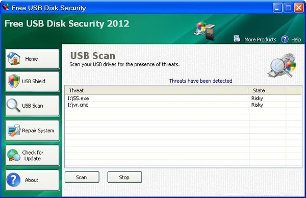Free USB Disk Security(USB设备杀毒工具) V2012