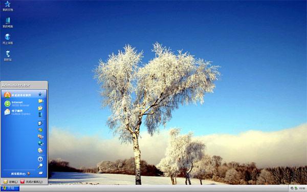美丽雾凇W8风景壁纸